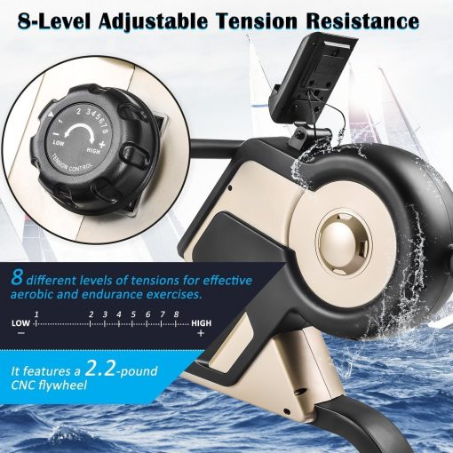 Compact Indoor Rower With Magnetic Tension System