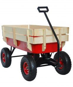 Outdoor Wagon All Terrain Pulling Wood Railing Air