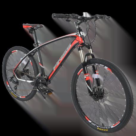 "Mountain Bike Aluminum 26"" 24 Speed Red"