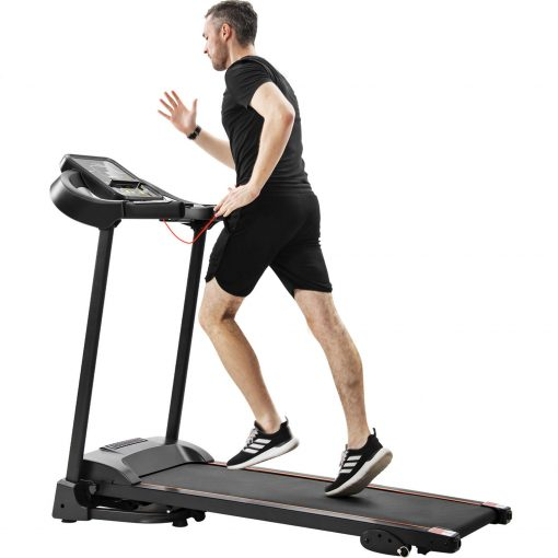 Compact Easy Folding Treadmill With Audio Speakers And Incline Adjuster