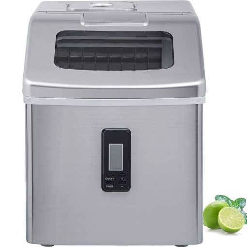 Portable Electric Clear Ice Maker Machine Stainless Steel