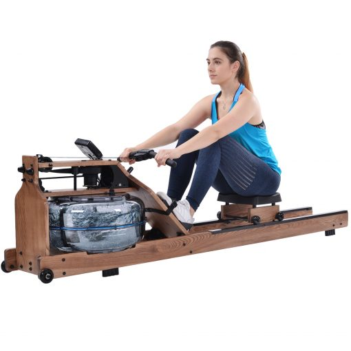 Water Rowing Machine For Home Use, Ash Wood, Water Pump Included