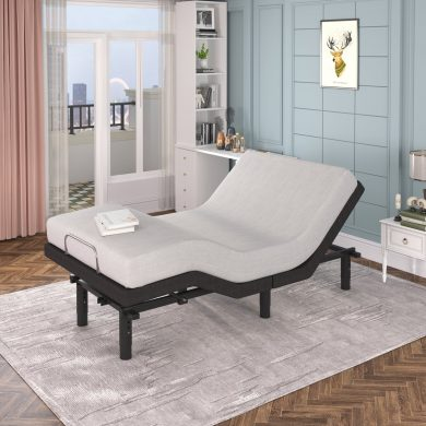 Adjustable Bed Base, 2 USB Charge Ports, Twin Size