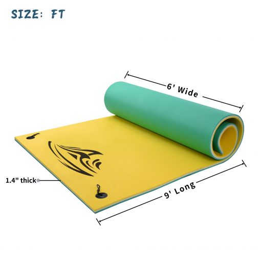 3-Layer XPE Water Pad with Storage Straps for Adults Outdoor Water Activities