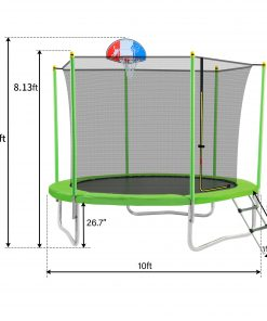 10FT Trampoline For Kids With Safety Enclosure Net