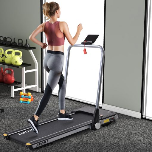 2.5HP Horizontally Foldable Electric Treadmill Motorized Running Machine With Bluetooth APP
