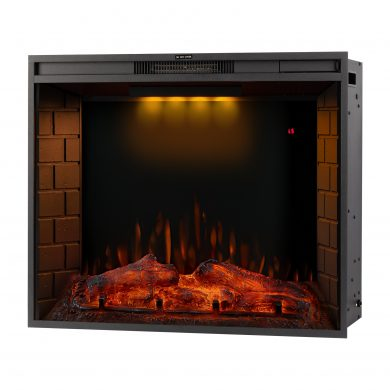 33 Inch LED Recessed Electric Fireplace