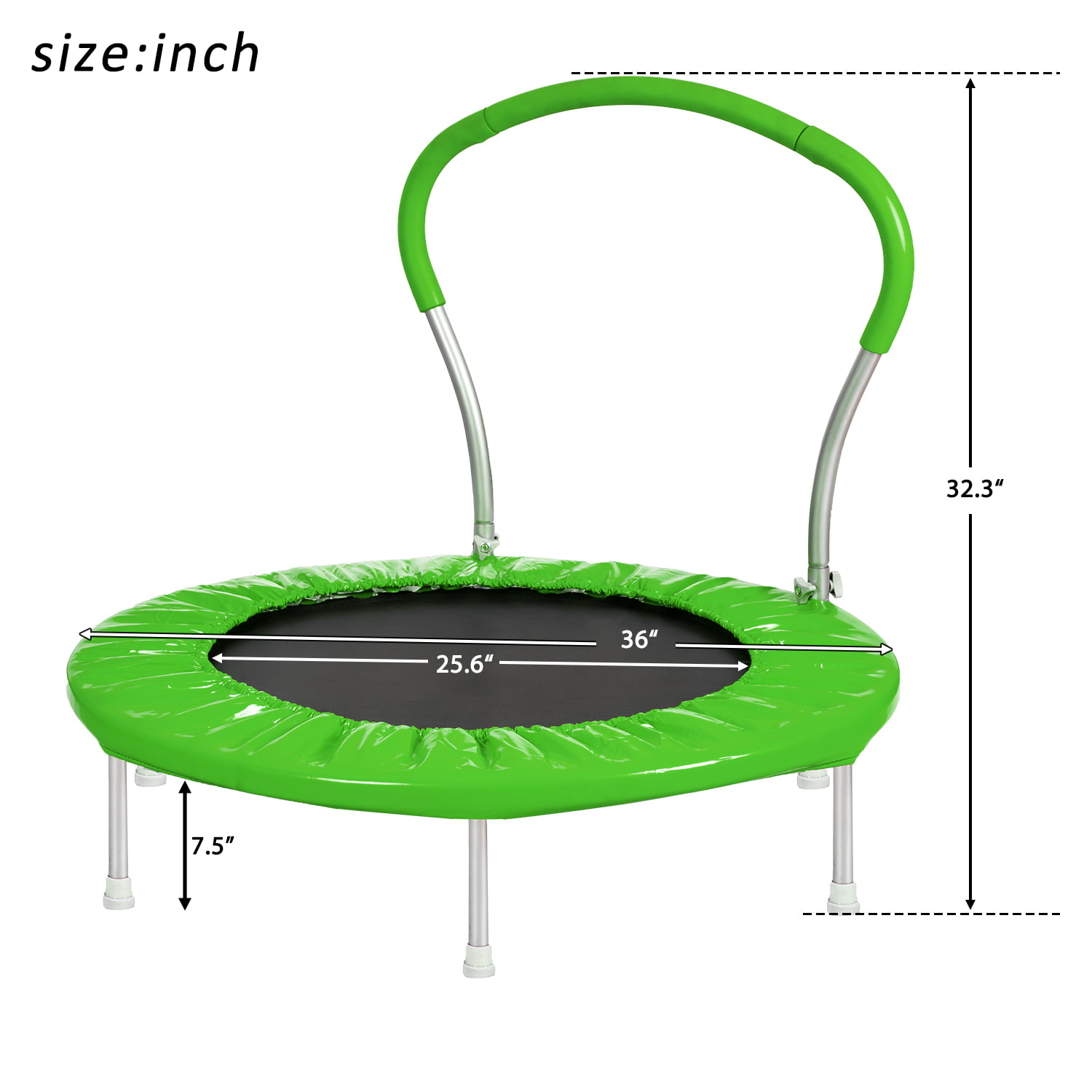 36 Inch Trampoline With Handle