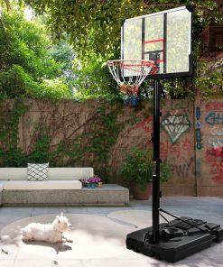 Portable Basketball Hoop, 6.6-10ft Height Adjustment