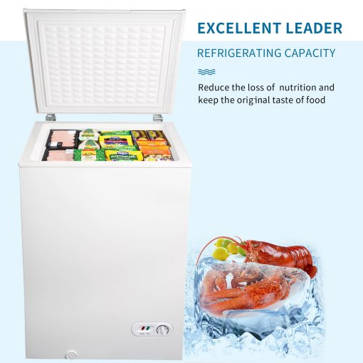 3.5 cu.ft Chest Freezer with Removable Storage Basket
