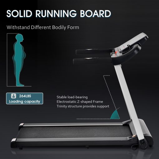 Jogging Electric Running Machine With Heart Pulse Monitor And Speaker