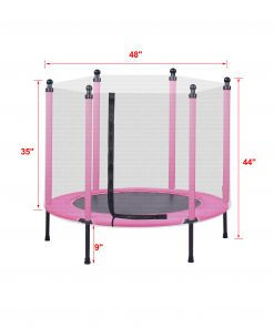 48in Toddler Trampoline with Enclosure
