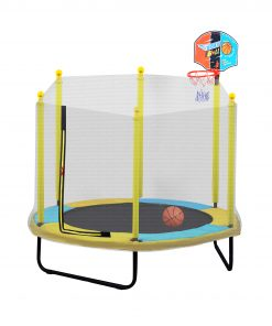 60 inch Mini Trampoline With Net For Kids, Indoor
