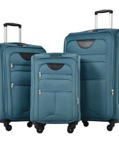 Upright Spinner Softshell Lightweight Luggage Travel Set