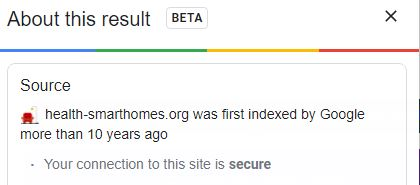 health-smarthomes.org was first indexed by Google more than 10 years ago
